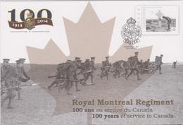 Première Guerre : PAP Montréal (Canada) Royal Montréal Régiment 100 Ans Au Service Du Canada 02-09-2014