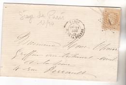 1870 -, Paris Lettre Intra Muros Du 21.12.1870 N°28 Tb. Complet. - Marcophilie (Lettres)