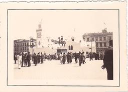 26108 Trois 3 Photo Algerie Alger Le 2 Mai 1937 -Rennes 35 -militaire Place Gouvernement, Jardin D'Essaie Essai - Lieux