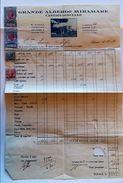 CONTO GRANDE ALBERGO MIRAMARE 1926 CON MARCHE DI TASSA DI LUSSO SS ALBERGHI (2 DA 20 LIRE-1 Non Perfetta) (foro In Basso - Italia