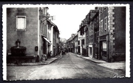 CP PHOTO- FRANCE- SAINT-CHÉLY-D'APCHER (48)- ALT. 1000 M- RUE THEOPHILE ROUSSEL AVEC ANIMATION- FONTAINE- COMMERCES - Saint Chely D'Apcher