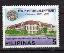 Philippines 2001 The 100th Anniversary Of Philippine Normal University.MNH - Philippines