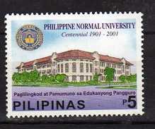 Philippines 2001 The 100th Anniversary Of Philippine Normal University.MNH - Filippine