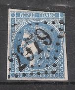 CERES De BORDEAUX N° 46, Nuance OUTREMER  Obl GC 2979 De PONTVALLAIN, Sarthe  B/TB - 1870 Emissione Di Bordeaux