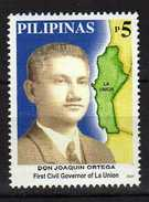 Philippines 2001 The 100th Ann.Appointment Of J. J. Ortega As First Civil Governor Of The Province Of La Union.maps.MNH - Filippine