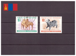 Mongolie 1968 - Oblitéré - Mammifères - Michel Nr. 482-483 (mgl100)