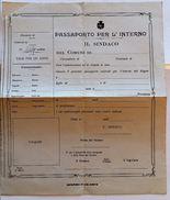 MODULO PER PASSAPORTO PER L'INTERNO - PRIMI 900 (D28 - Timbri Generalità