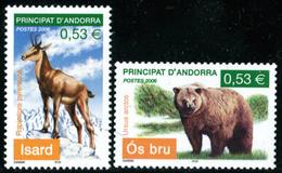 FRENCH ANDORRA 2006 Bear Chamois Animals Fauna MNH - French Andorra