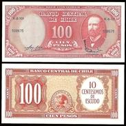 Chile 10 Centesimos On 100 PESOS Serie K P 127 UNC CHILI - Chile