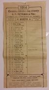 FOGLIO DI CALENDARIO DEL 1914 CON PUBBLICITA' CARTOLERIA (D30 - Calendari