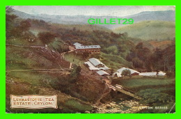 CEYLON, SRI LANKA - LEYMASTOTTE TEA ESTATE - LIPTON MARK - TRAVEL IN 1909 - - Sri Lanka (Ceylon)