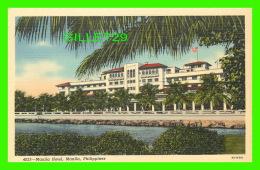 MANILA, PHILIPPINES - MANILA HOTEL -  CURTEICH-CHICAGO - - Philippines