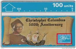 GIBRALTAR - Christopher Columbus 500th Anniversary, CN : 207A(0-29999), Tirage 30000, Mint