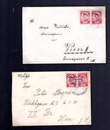 Masaryk 03/1935 : 2 Lettres Au Tarif 2 K Etranger Y 292  En Double