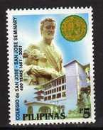 Philippines 2001 The 400th Anniversary Of San Jose Seminary.University.MNH - Philippines