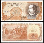 Chile 10 ESCUDOS Sign.1 ND 1976-67 P 143 UNC CHILI - Chili