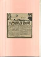 FRANCE   . PUB. KIJJA BAUME DE BEAUTE . ANNEES 1920 . DECOUPEE ET COLLEE SUR PAPIER . - Parfums & Beauté