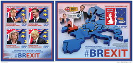 CENTRALAFRICA 2016 ** BREXIT Output Of United Kingdom Farage Cameron M/S+S/S - OFFICIAL ISSUE - A1636