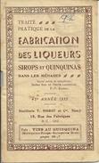 Distillerie Noirot Nancy Livret Publicitaire Fabrication Des Liqueurs Sirops Et Quinquinas - Andere