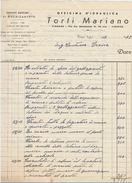 FATTURA OFFICINA IDRAULICA TORTI MARIANO 1948 (PIEGATA LATO SX) (D38 - Italia