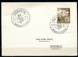 """German Empires Demmin 1939 Drucksachen Stempelkarte Mit Mi.Nr.675 U.SST""""Demmin-Reitturnier,Horses""""1Karte"""