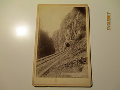 RAILWAY  HÖLLENTAL  Hirschsprung  TUNNEL , SCHWARZWALD ,   OLD CABINET PHOTO  ,  0 - Structures