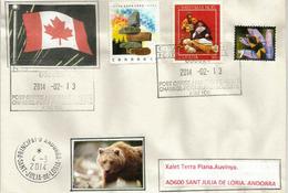 Lettre Postée Au Village De PORT AUX BASQUES.  Ile De TERRE NEUVE.  CANADA., Adressée En Andorre