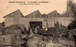 """La """"Scierie Nouvelle"""" De Mr Coudert, Près De La Gare. - Civray"""