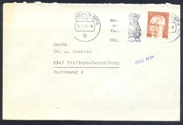 Germany Deutschland 1974 Cover: Fauna Cats Chats Katze; Tiger Panthera Tigris München ZOO Hellabrunn Cancelllation Beer