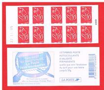 FRANCE - 2005 - CARNET N° 3744-C7 -NEUF** NON PLIE AVEC DATE - Marianne De LAMOUCHE - TVP - Y&T - COTE : 21,00 Euro - Definitives