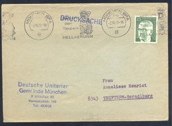 Germany Deutschland 1973 Cover: Fauna Cats Chats Katze; Tiger Panthera Tigris München ZOO Hellabrunn Cancellation