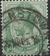 SOUTH AFRICA 1913 George V - 1/2d. - Green FU - South Africa (...-1961)