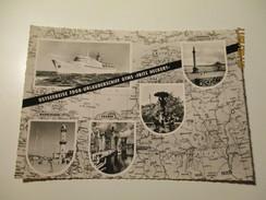 OSTSEEREISE FDGB URLAUBERSCHIFF GTMS FRITZ HECKERT , WARNEMÜNDE GDANSK  RIGA LENINGRAD PETERSBURG ,   POSTCARD  ,  0 - Passagiersschepen