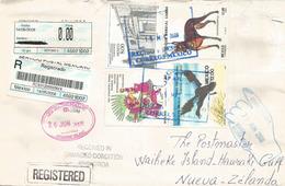 Belle Lettre Recommandée Du Mexique Adressée A L'île Waiheke (Hauraki Gulf) New-Zealand