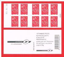 FRANCE - 2006 - CARNET N° 3744-C8 -NEUF** NON PLIE AVEC DATE - Marianne De LAMOUCHE - TVP - Y&T - COTE : 21,00 Euros - Definitives