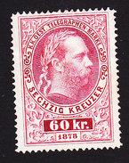 Austria, Scott #Telegraph, Mint No Gum, Franz Josef, Issued 1873 - Telegraph