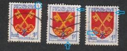 (o) 1047, Comtat Venaissin, Impression Défectueuse Légende Et Signatures, Décalage Du Jaune & Du Blason, Lien Blanc Clef