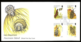 Ascension Island, Scott Cat. 692-695. Biological Control Of Insects Issue, FDC