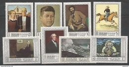 SHARJAH - MNH - Art - Painting - American Artists - Famous People Portraits