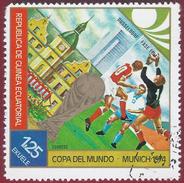 1974 - Copa Del Mundo - Munich 1974 -  Yt:GQ 42-G - Used - Guinea Equatoriale