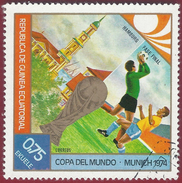 1974 - Copa Del Mundo - Munich 1974 - Yt:GQ 42-A - Used - Guinea Equatoriale