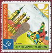 1974 - Copa Del Mundo - Munich 1974 -  Yt:GQ PA27-B - Used - Equatoriaal Guinea