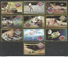 UMM AL QIWAIN - MNH - Space - Apollo 15 Mission - Imperf. - Overprint