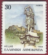 1988 - Lamia, Capital Of The Central Greece Region - Imperforate Horizontally - Yt:GR 1689B - * - Grecia