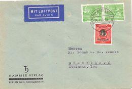 Berlin Mi. 47 (2) + 66 Auf Luftpost-Brief Gest. - Ansehen!!