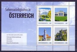 Österreich Block 'Burgen U. Schlösser' / Austria M/s 'Castles & Palaces' **/MNH 2017
