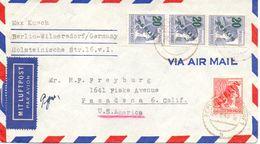 Berlin Mi. 28 + 66 (3) Auf Luftpost-Brief Gest. - Ansehen!!