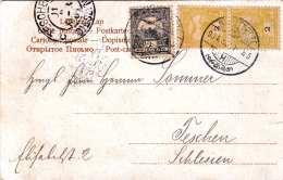Rumänische Schafhirten, Gel.1904, Seltene 3 Fach Frankierung - 1881-1918: Carol I.