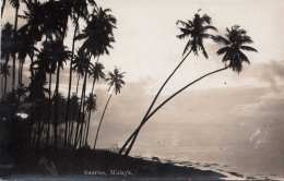 MALAYA Sunrise, Fotokarte Um 1950 - Malaysia