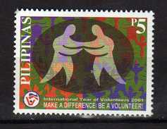 Philippines 2001 International Year Of Volunteers.MNH - Philippines